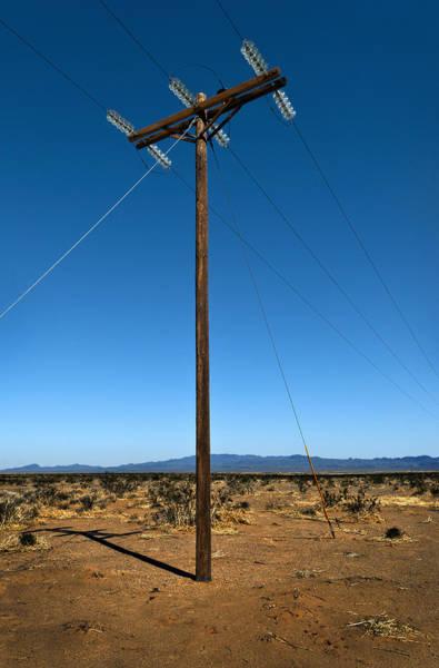 Glass Insulator Photograph - Desert Power by Murray Bloom