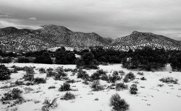 Photograph - Desert Snow by Atom Crawford