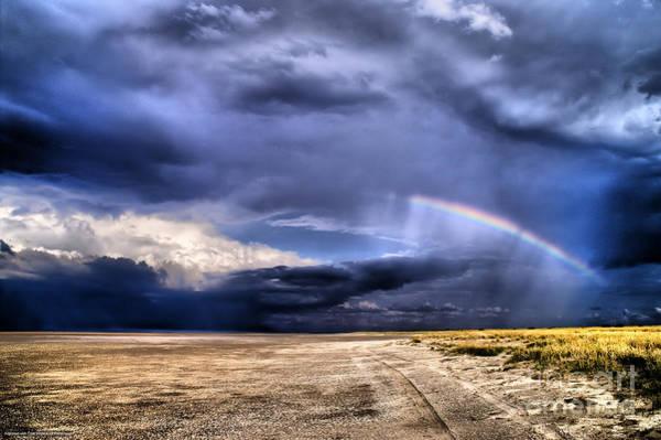 Photograph - Desert Storms With Rainbow by Mareko Marciniak