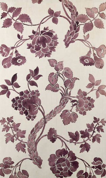 Tapestries Textiles Wall Art - Tapestry - Textile - Design For A Silk Damask by Anna Maria Garthwaite