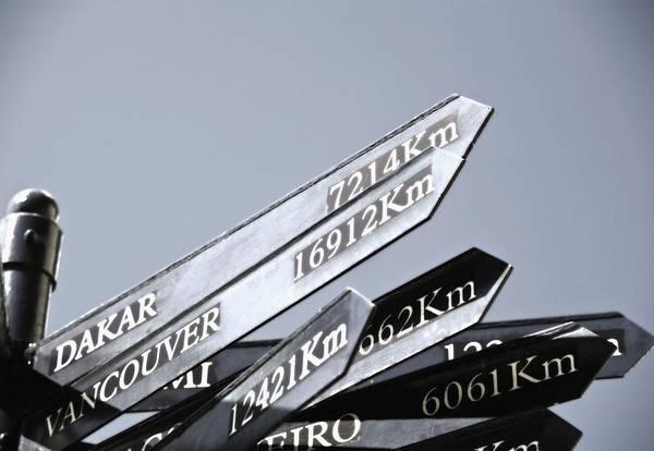 Dakar Photograph - Destination Sign by Carson Ganci