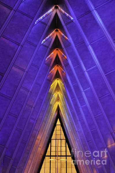 Photograph - Detail Af Academy Cadet Chapel by David Waldrop
