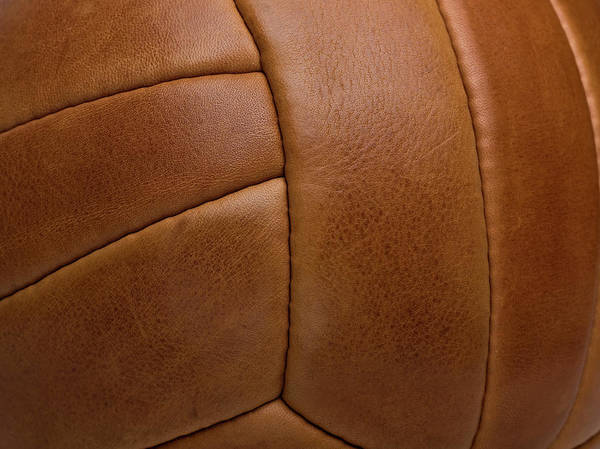 Wall Art - Photograph - Detail Of A Leather Sports Ball by Tobias Titz