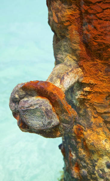 Photograph - Detail Of A Rusted Dock Pier IIi by David Letts