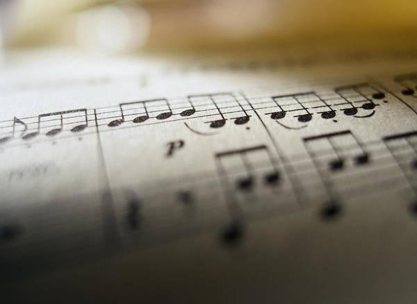 Photograph - Detail Of Sheet Music by Ryan McVay