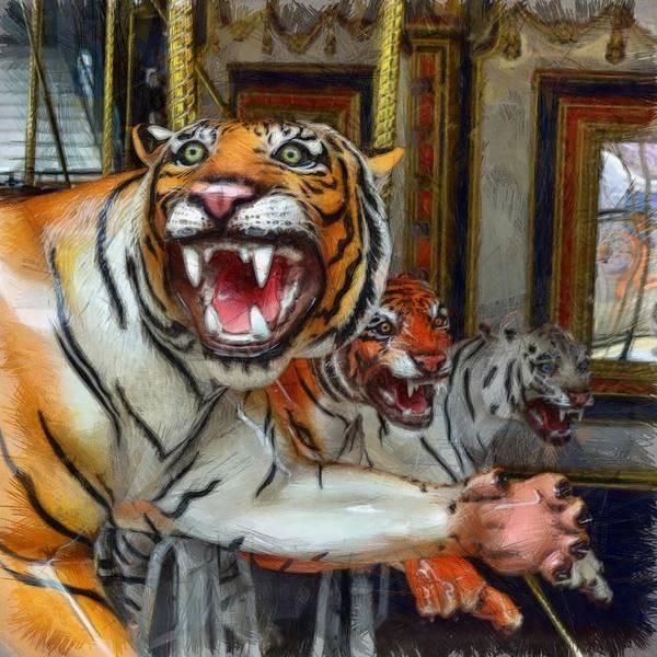 Photograph - Detroit Tigers Carousel by Michelle Calkins