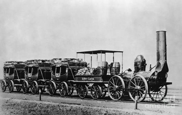 Photograph - Dewitt Clinton Locomotive And Cars by Omikron