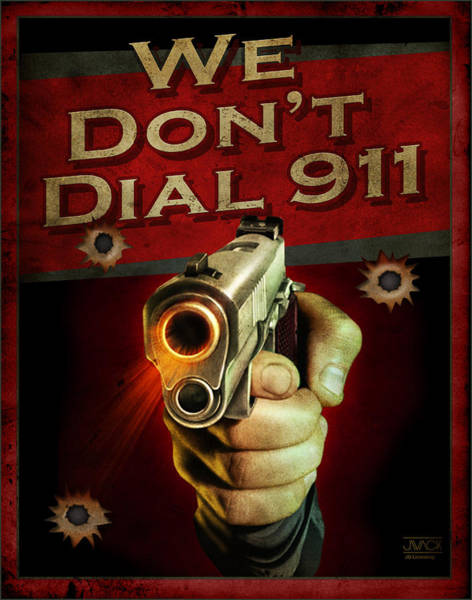 Shooting Wall Art - Painting - Dial 911 by JQ Licensing