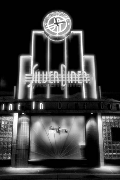 Diner At Night Art Print by Steven Ainsworth