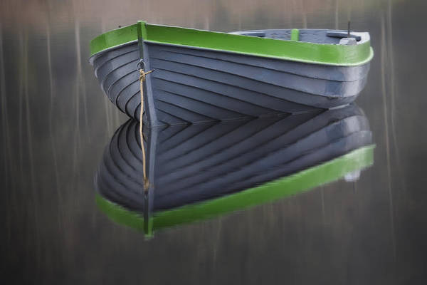 Wall Art - Photograph - Dinghy Loch Rusky by David Mould