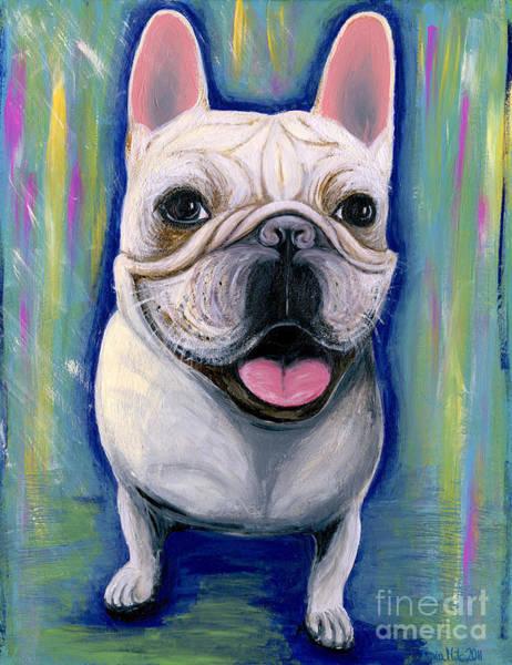 Painting - Dino The French Bulldog by Ania M Milo