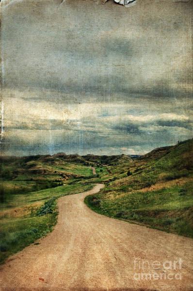 North Dakota Badlands Wall Art - Photograph - Dirt Road In North Dakota by Jill Battaglia