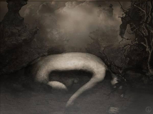 Depressed Digital Art - Disappearing Light by Gun Legler
