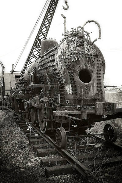 Photograph - Disassembled Baldwin Locomotive by Scott Hovind