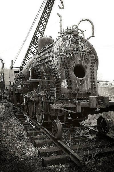 Photograph - Disassembled Baldwin Locomotive by Scott Hovind