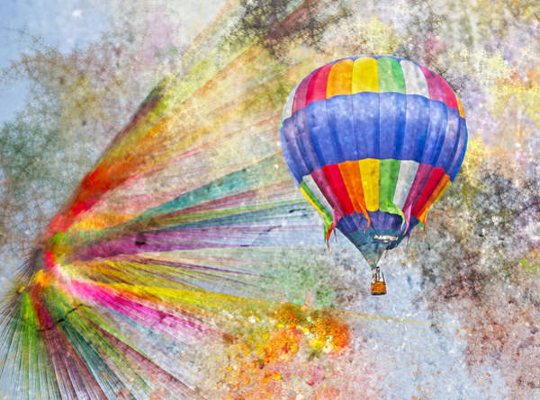 Hot Air Balloon Digital Art - Discovery by Betsy Knapp