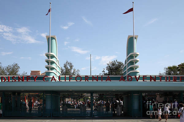 Photograph - Disney California Adventure - Anaheim California - 5d17522 by Wingsdomain Art and Photography