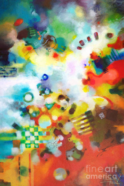 Painting - Dissolving Obstacles by Sally Trace