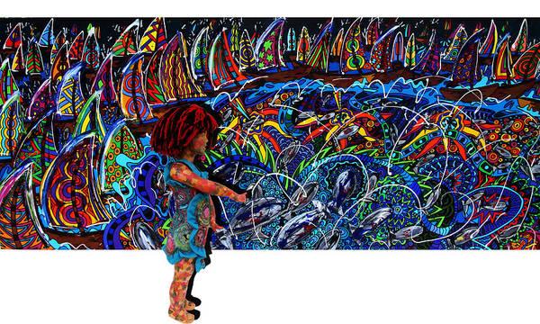 Wall Art - Painting - Distressed Fish by Karen Elzinga
