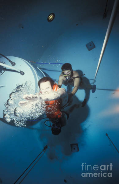 Diving Bell Photograph - Diving Bell Instructor Releases Control by Michael Wood