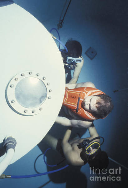 Diving Bell Photograph - Diving Bell Instructors Hold by Michael Wood