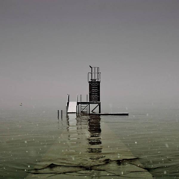 Snow Flake Photograph - Diving Platform by Joana Kruse