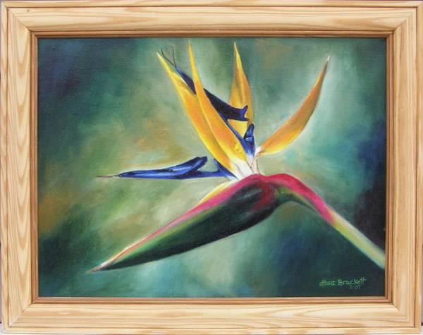 Painting - Dj's Flower Framed by Lori Brackett
