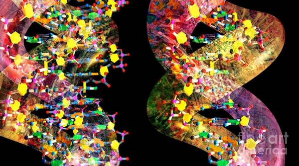 Digital Art - Dna Dreaming 1 by Russell Kightley