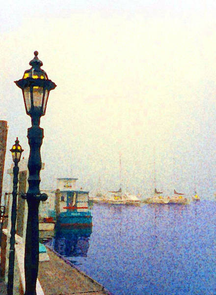 Painting - Dock At Newburyport Harbor by Anthony Ross