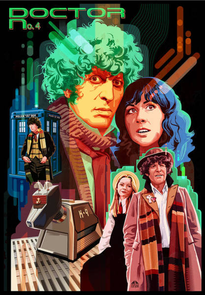 Wall Art - Painting - Doctor Who Number Seven by Garth Glazier