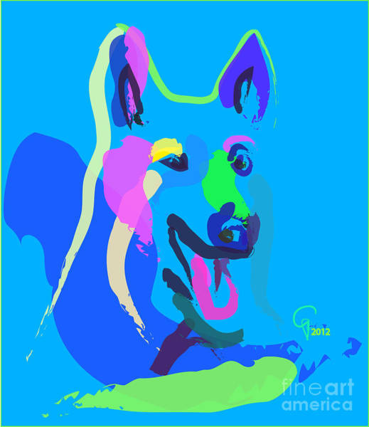 Painting - Dog - Colour Dog by Go Van Kampen
