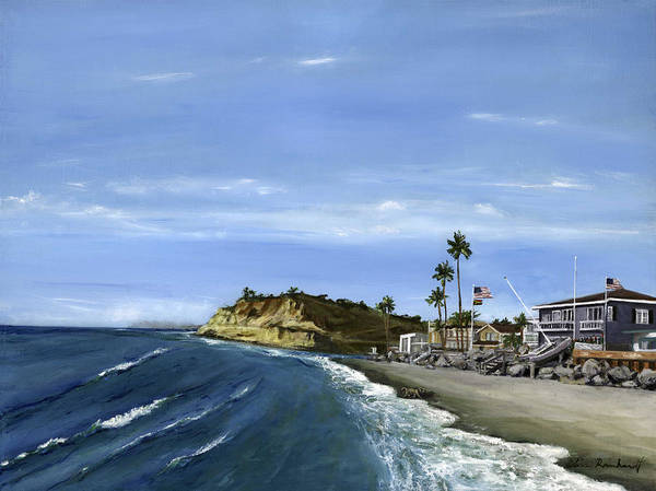 Wall Art - Painting - Dog Beach by Lisa Reinhardt