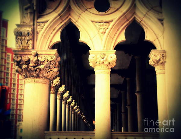 Wall Art - Photograph - Doges Palace Of Venice In Las Vegas by Susanne Van Hulst
