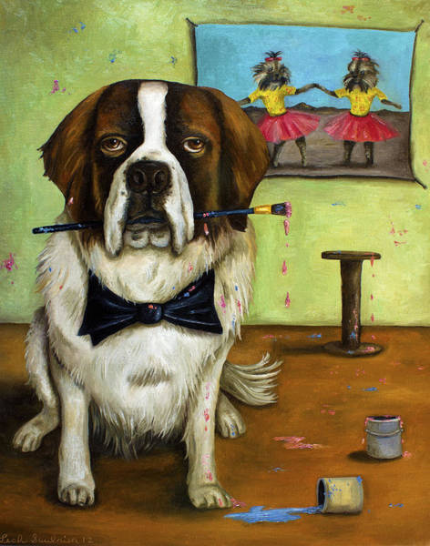 Painting - Doggy Style by Leah Saulnier The Painting Maniac