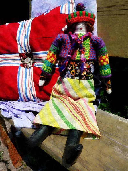 Photograph - Doll In Colorful Outfit by Susan Savad