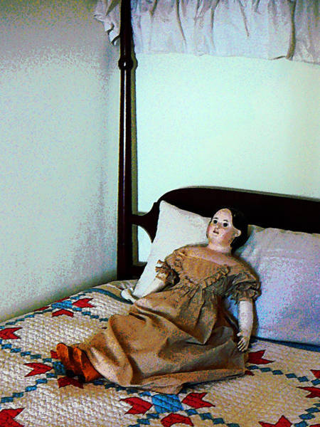Photograph - Doll On Four Poster Bed by Susan Savad