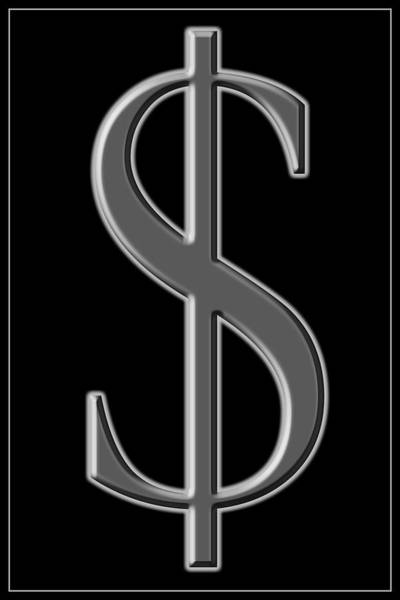 Photograph - Dollar Sign 2 by Andrew Fare