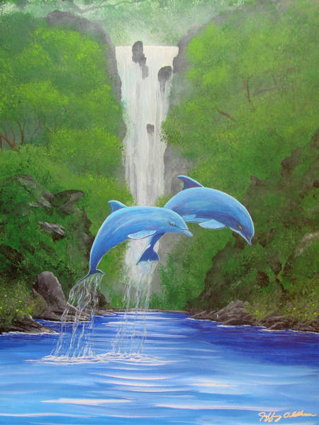 Painting - Dolphins In Paradise by Jeffrey Oldham