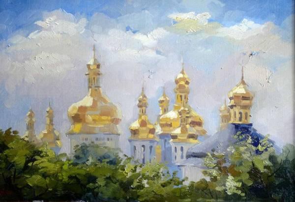 Follow Me Painting - Dome.  Kiev by Anna Sokol