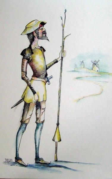 Man Of La Mancha Wall Art - Painting - Don Quixote by Rita Welegala