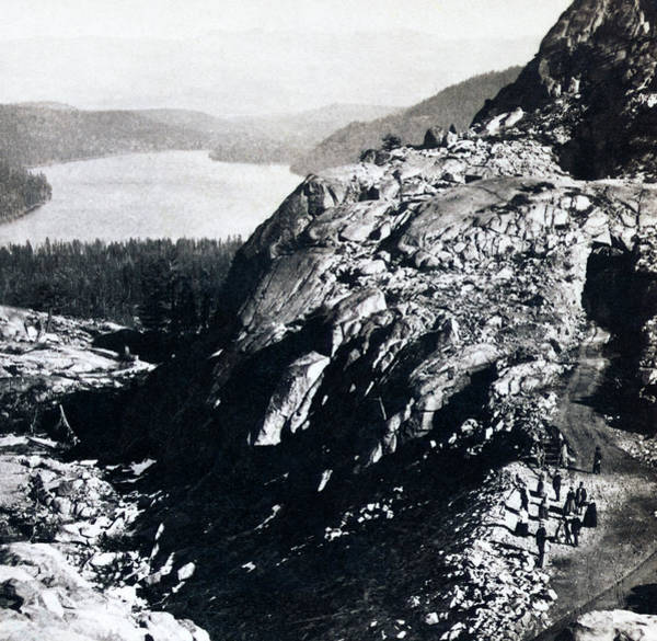 Donner Photograph - Donner Lake From Summit - California - C 1865 by International  Images