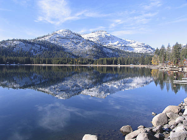 Photograph - Donner Lake Relection by Tony and Kristi Middleton