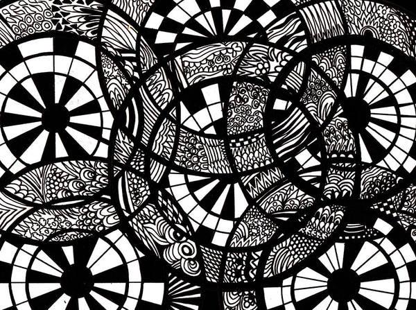 Wall Art - Drawing - Doodle Circular  by Karen Elzinga
