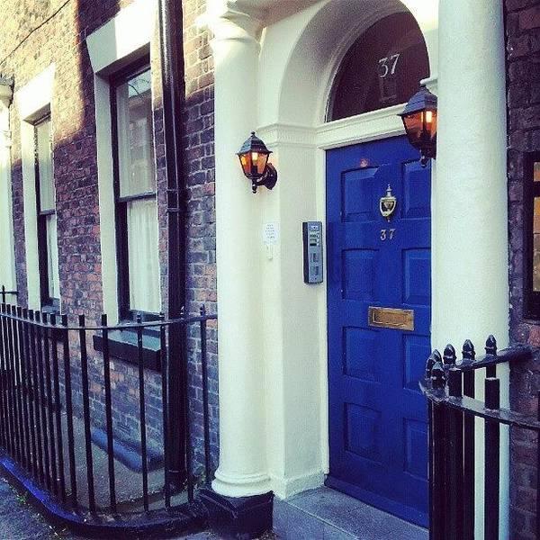 #door #house #light #liverpool #uk Art Print