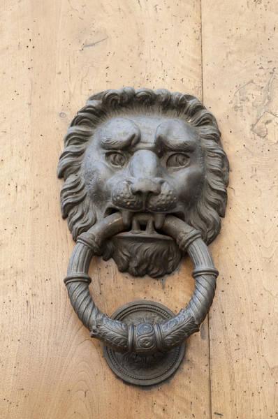 Photograph - Door Knocker - Metal Lion Head by Matthias Hauser