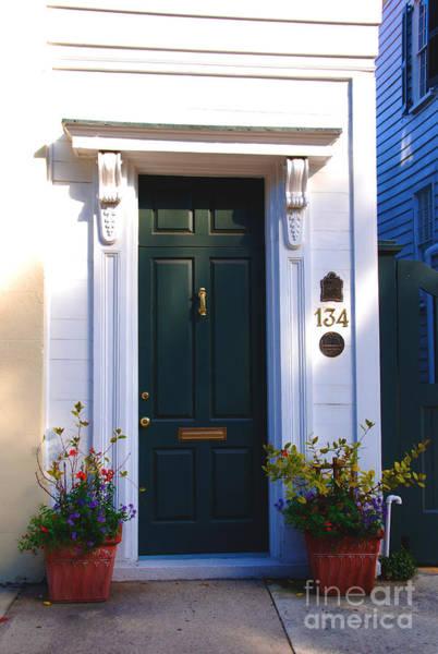 Photograph - Door Nr 134 In Charleston Sc by Susanne Van Hulst