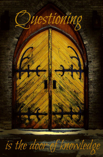 Photograph - Door Of Knowledge by Cyryn Fyrcyd