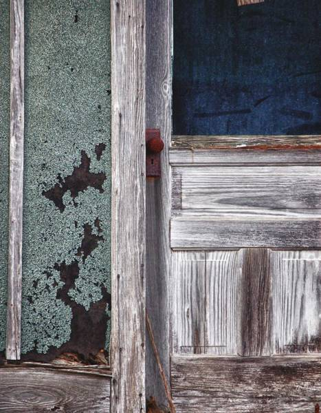 Digital Art - Door With Blue Pane by Michael Thomas