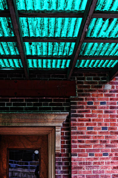 Drain Photograph - Door With Green Overhang by HD Connelly