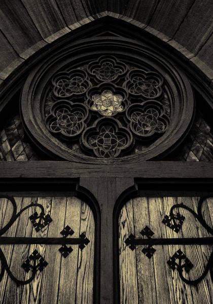 Photograph - Doorway To Faith - First Presbyterian Church Of Salt Lake City by Steven Milner